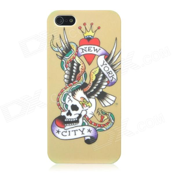 Noctilucen Skeleton Eagle Snake Pattern Protective ABS Hard Back Case for Iphone 5 - Colorful stylish 3d eagle pattern protective abs pc back case for iphone 4 4s multicolored