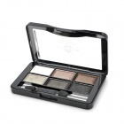 Kosmetik Make-up 6-Color Pearl Powder Eye Shadow Palette - Multi-Color