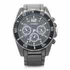 SINOBI 9415 Fashion Stainless Steel Quartz Analog Waterproof Wrist Watch - Black (1 x LR626)