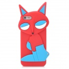 Fashion Fox Style Protective Silicone Back Case for Iphone 5 - Red + Blue + White