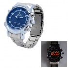 WEIDE WH1101 Stainless Steel Digital + Analog Quartz LED Wrist Watch for Men (1 x SR626)