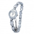 KIMIO K018L Stainless Steel Analog Quartz Wrist Watch w/ Pendants for Women - Silver (1 x LR66)