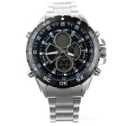 WEIDE WH-1003 Multi-Function Stainless Steel Analog + Digital Wrist Watch for Men (1 x SR626)