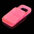 Portable Folding Plastic Stand Holder for Iphone + More - Red