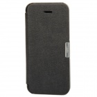 S-002 Protective Flip Cover PU Leather Case for Iphone 5 - Black