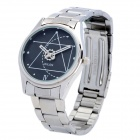 Wilon 2318 Stainless Steel Analog Wrist Watch w/ Geometric Pattern Dial for Men - Silver (1 x SR626)