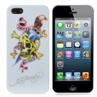 Skeleton Pattern Protective ABS Hard Back Case w/ Noctilucen for iPhone 5 - White