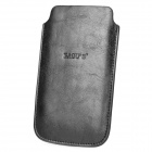BAGUS Protective Pull-up PU Leather Case Pouch Bag for iPhone 4 / 4S / 5 - Black