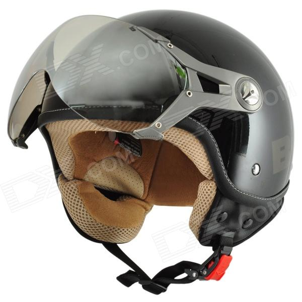 Cool BEON A5 Motorcycle Outdoor Sports Racing Half Helmet - Black (Size L)