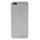 Protective Mesh Style Aluminum Alloy Back Case for Iphone 5 - Silver