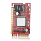 3-in-1 Laptop Debug Card Expert Mini PCI / PCI-E / LPI Diagnostic Board - Red