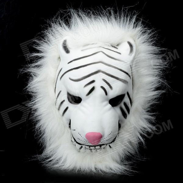 Stylish Tiger Mask for Halloween / Cosplay - White + Black bork k8f1 k8f2