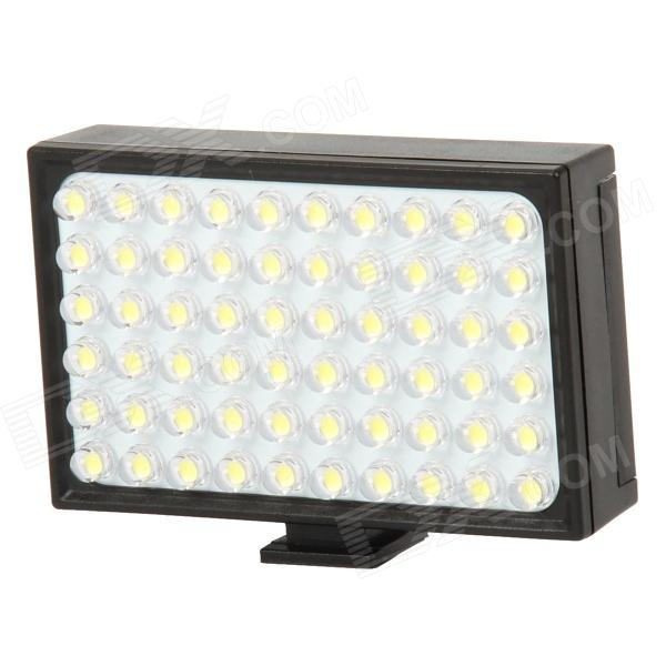 LBP-601S+ 1.5W 120lm 60-LED Video Light - Black (1 x BL-6F)