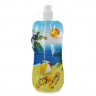 Portable Folding Outdoor-Plastic Water Bottle Bag - Colorful (1 L)