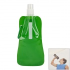 Portable Folding Outdoor-Plastic Water Bottle Bag - Green (1 L)