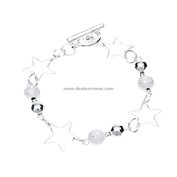 Beautiful 925 Silver Star Bracelet (2-Pack) beautiful darkness