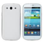 Rechargeable 2500mAh Battery w/ PVC Back Case + Screen Protector for Samsung i9300 - Translucent