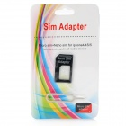 Nano SIM Card to Standard SIM Card Adapter for Iphone 5 - Black