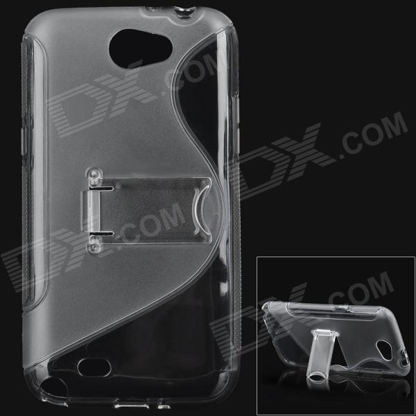 Protective Plastic Back Case w/ Stand for Samsung N7100 Galaxy Note2 - Grey metal ring holder combo phone bag luxury shockproof case for samsung galaxy note 8