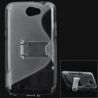 Protective Plastic Back Case w/ Stand for Samsung N7100 Galaxy Note2 - Grey
