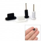 3.5mm Earphone Jack and 8-Pin Dock Anti-Dust Kit for iPhone 5 - Black + White