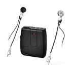 Motorcycle Helmet Headset Interphone 2-Way Intercom - Black (2 x AAA)