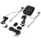 Motorcycle Helmet Headset Interphone 2-Way Intercom - Black (2*AAA)
