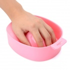 Fashion Plastic Nail Soak Tray Treatment Remover Manicure Bowl - Pink