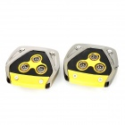 XB-375 Car Pedals for Brake / Clutch / Accelerator - Black + Yellow (3 PCS)