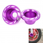 Motorcycle DIY Front Fork Decoration Protection Cup - Purple + Silver (2 PCS)
