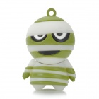Cartoon Style USB 2.0 Flash Drive - White + Green (4GB)
