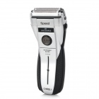 RSCW-730 Electric AC Rechargeable Dual-Blade-Head Reciprocating Shaver Razor - Silver + Black