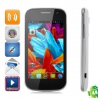 "i9309 Android 4.0 GSM Bar Phone w / 4,0 ""kapazitiven Bildschirm, Quad-Band, Wi-Fi-und Dual-SIM - White"