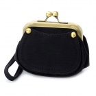 Vintage Coin Purse / Cosmetic Bag for Women - Black