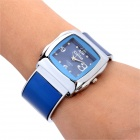 Fashion Clip Style Quartz Analog Wrist Watch for Women - Blue + Silver