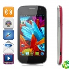 "i9309 Android 4.0 GSM Bar Phone w / 4,0 ""kapazitiven Bildschirm, Quad-Band, Wi-Fi-und Dual-SIM - Red"