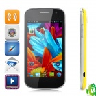 "i9309 Android 4.0 GSM Bar Phone w / 4,0 ""kapazitiven Bildschirm, Quad-Band, Wi-Fi-und Dual-SIM - Yellow"