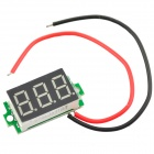 "0.36"" Display 3-Digit 3~30V Voltage Tester for 18650 Battery - Black + Green"