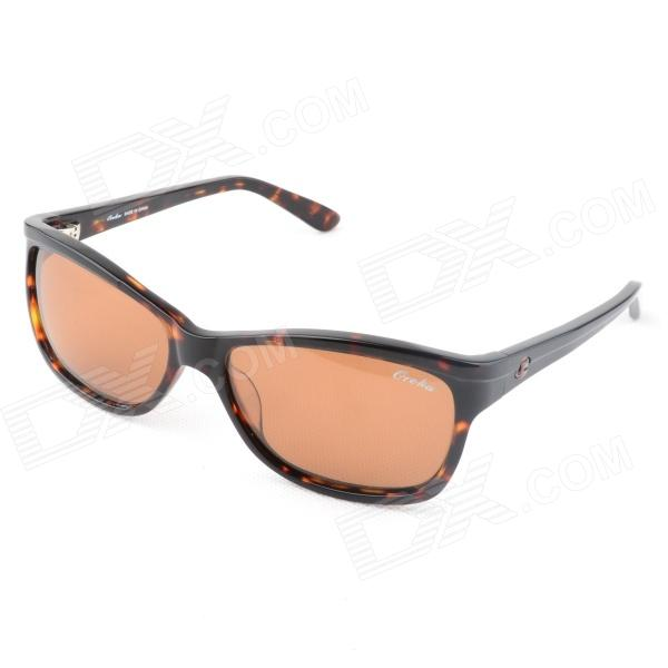 OREKA 009C2 Fashion Polarized Lens Cellulose Acetate Frame Sunglasses Goggles - Tortoise Color oreka children s cool cellulose acetate frame blue revo lens uv400 sunglasses brown blue