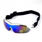 OREKA 930 TR90 Frame Anti-Explosion PC lens UV400 Protection Goggles w/ Replacement Lenses - White