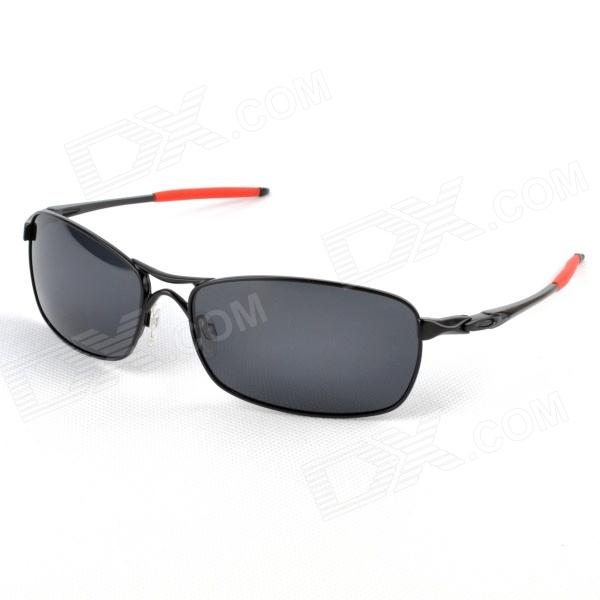 Baolilai 4044 Car Driving Polarized Lens Monel Alloy Frame Sunglasses Goggles - Black