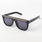 OREKA Retro PC Lens Cellulose Acetate Frame Sunglasses Goggles - Black