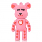 MOMO Bear Cartoon Style USB 2.0 Flash Drive - Pink + Red (4GB)