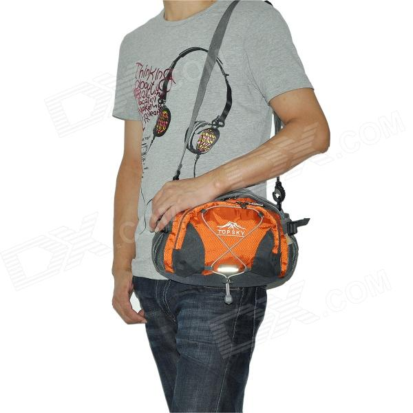 Topsky Multi-Functional Hiking Climbing Waist Bag - Grey + Orange (8 L)