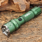 New-G11 Tactical Cree XR-E Q3 230lm 3-Mode White Light Zoomen Taschenlampe - Dark Green (1 x 18650)
