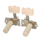 William Tri-Heads Folk / Classical String Tuning Peg Tuners - Silver + Beige (2 PCS)