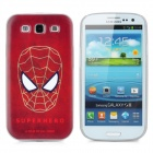 TAIOING Spider Man Pattern Protective Plastic Case for Samsung i9300 Galaxy S3 - Ruby Red