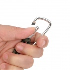 Outdoor Aluminum Alloy Locking Carabineer Hooks - Silver (2 PCS)