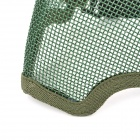 A11 Steel Mesh Protective Half Face Mask - Army Green