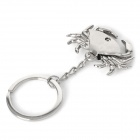 Crab Shaped Zinc Alloy Keychain w/ Movable Claw - Silver